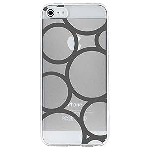 Carcasa rígida para Apple iPhone 4, diseño de círculos, color gris