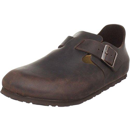 Birkenstock Womens London Clog Habana Oiled Leather Size 38 EU (7-7.5 M US Women) (Birkenstock Habana Oiled Clogs)