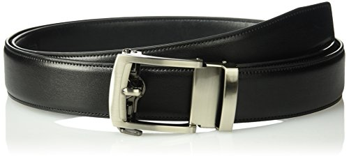 Exact Fit Men's 1.3 in Perfect Fit Adjustable Ratchet Belt, black, One...