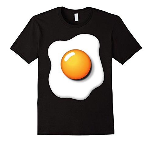 Mens Funny Fried Egg Shirt DIY Halloween Costume