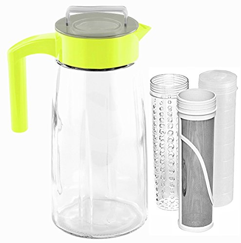 Cooking Upgrades 60oz Glass Cold Brew Coffee Maker and Tea M