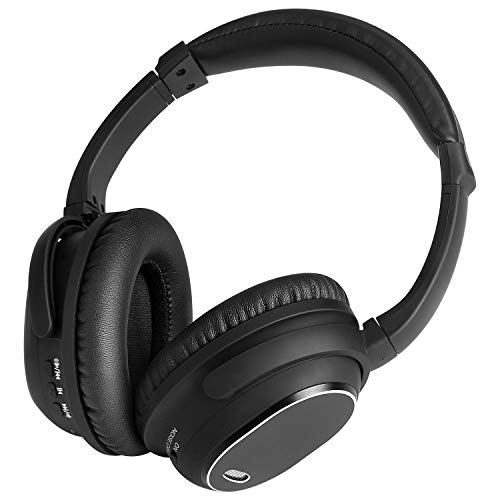 Canceling Noise Headphone Blk (Active Noise Cancelling Headphones, MAYOGA Bluetooth Headphones with Mic Over Ear Headphones Wireless/Wired Headphones Comfortable Stereo ANC Headset, HiFi Deep Bass for Work Travel TV PC Cellphone)