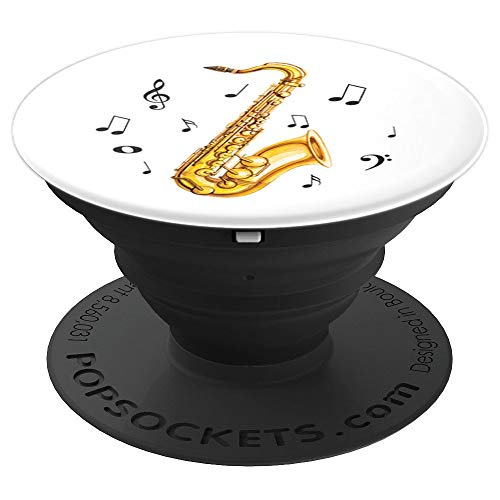 Musician's Saxophone, Marching Brass Band - PopSockets Grip and Stand for Phones and Tablets