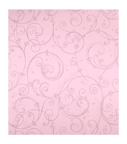 Scroll Wallpaper - York Wallcoverings DK5967SMP Disney Perfect Princess Scroll Girls Wallpaper Memo Sample, 8-Inch X 10-Inch