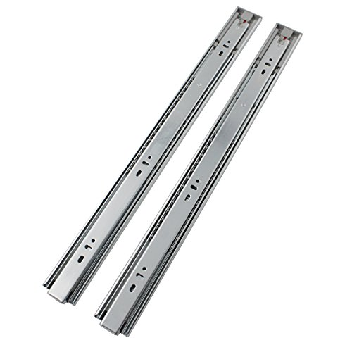 10 Pairs Probrico Push to Open Slide Mount Drawer Slides Glides 3-Folds  Full Extension 12 Inch Ball Bearing 78-Pound Capacity