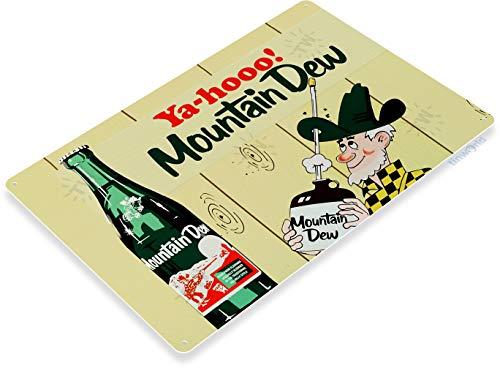 Tinworld Tin Sign Yahoo Mountain Dew Retro Soda Metal Sign Decor Kitchen Cottage A193