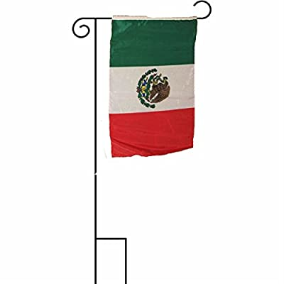 ALBATROS 12 inch x 18 inch Mexico Mexican Sleeved with Garden Stand Flag for Home and Parades, Official Party, All Weather Indoors Outdoors