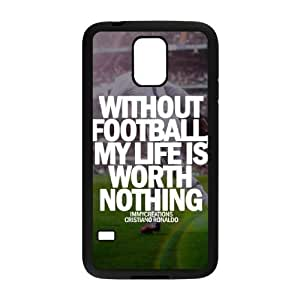 samsung galaxy s5 case(TPU), soccer Cell phone case Black for samsung galaxy s5 - HHKL3327770