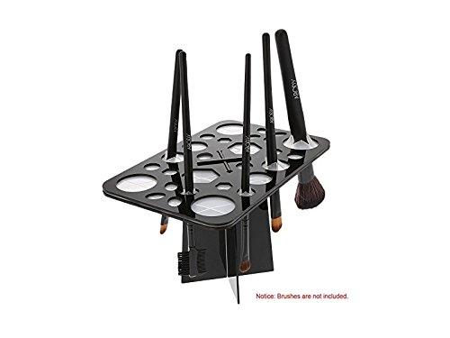Hezon 1Pc 28 Hole Brush Drying Rack Makeup Brush Holder Drying Brush Stand Storage Holder(Black) EASY TO USE