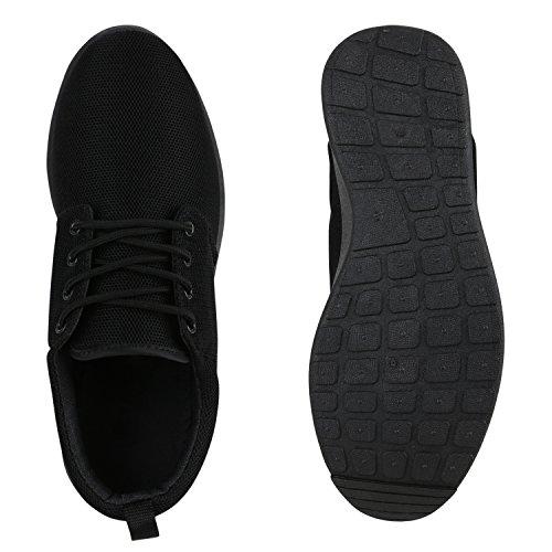 Modische Herren Sportschuhe Freizeit Sneaker Snake Laufschuhe Runners Trainers Sneakers Schuhe Flandell Black