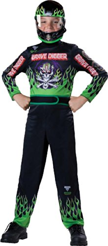Monster Costumes - Monster Jam Grave Digger Costume, Size 6/Small