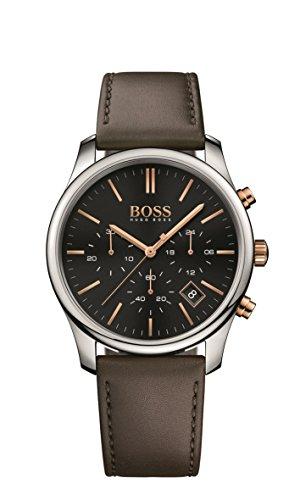 Hugo Boss Hugo Boss 1513448 Black / Brown Leather Analog Quartz Men's Watch