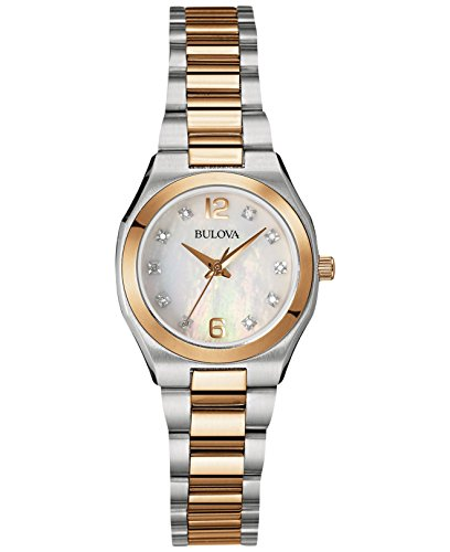 Bulova Women's 98P143XG Diamond Gallery Quartz Two-Tone Bracelet Watch (Certified Refurbished)