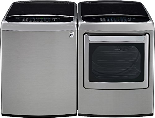 LG PAIR SPECIAL-Mega Capacity High Efficiency Top Load Laundry System *Graphite Steel* (WT1801HVA_DLEY1701V) by LG