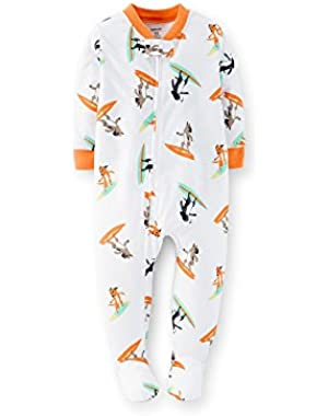 Little Boys' One Piece Footie Pajamas (4t, Surf Dog)