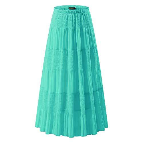 NASHALYLY Womens Long Light Blue Plus Size Petticoats