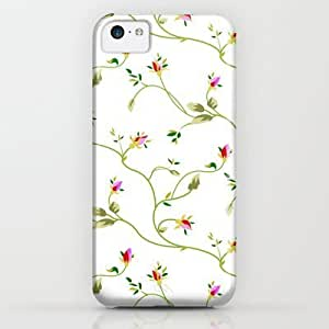 classic - Chic Small Rose Pattern iPhone & iphone 5c Case by Figen Topbas