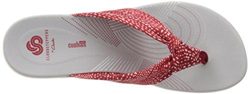 Clarks Womens Arla Glison Bascule Tissu De Points Rouge / Blanc
