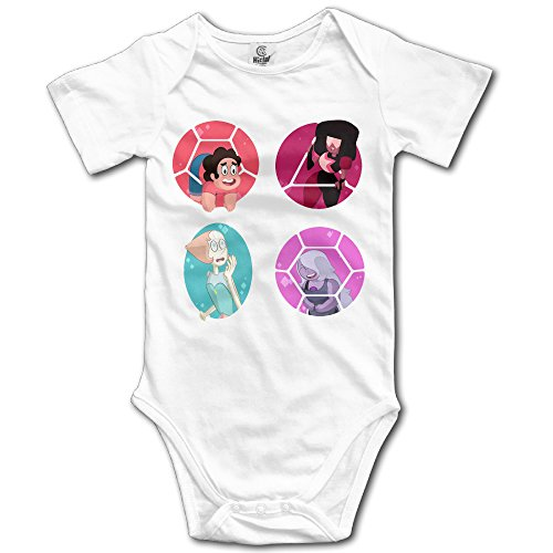 Elnory Steven Universe Baby Cool Climbing Clothes Infant Rompers White 6 M