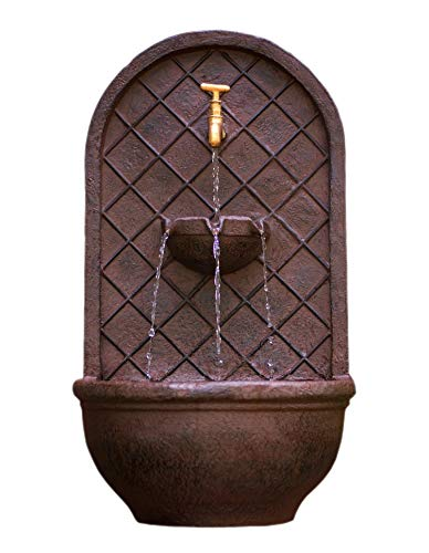 The Milano - Outdoor Wall Fountain - Weathered Bronze Finish - Water Feature for Garden, Patio and Landscape Enhancement ()