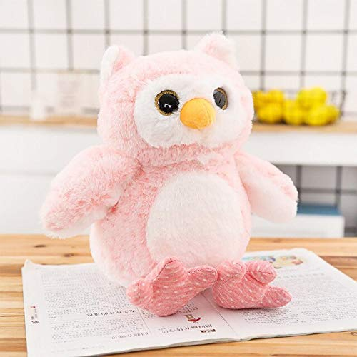MANGMOC 30Cm 40Cm 50Cm Stuffed Wild Animal Pink and G Owl Plush Toys with Big Dreamy Eyes Wonderful Gifts for Children Birthday Cool Must Haves Gift Ideas Childrens Favourites Superhero ()