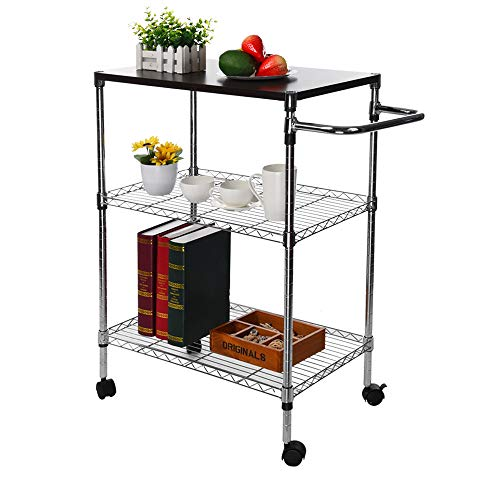 Tronet Kitchenware 4-Shelf Storage Rack Microwave Oven Holder Wheeled Trolley [Ship from USA Directly] by Tronet (Image #4)