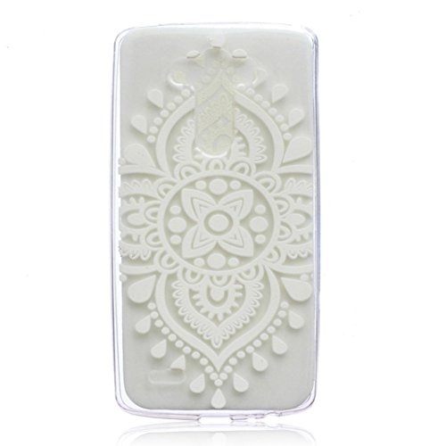LG G4 Case, AutumnFall® Damask Design Pattern Rubber Coating Ultra Slim Fit Hard Hybrid Case Cover for LG G4 (#4) Fits Hard Rubber
