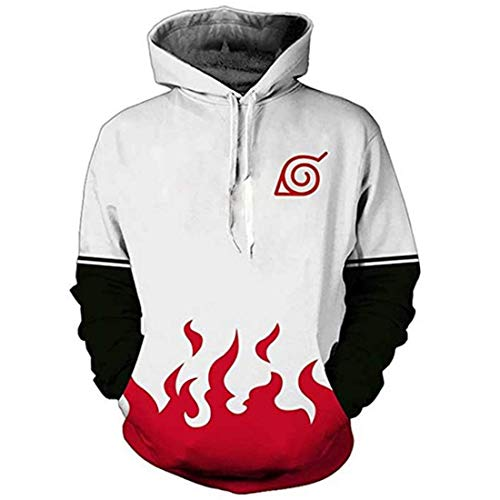 CHENMA Men Naruto 3D Print Pullover Hoodie Sweatshirt with Kangaroo Pocket (Color 10, L/US M)