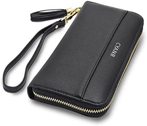 Swan In The Moonlight Bi-fold Zipper Bill /& Card Holder Long Wallet