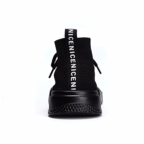 Top Men's High Sock Casual Shoes Sneakers Running Shoes Lightweight Black Walking Breathable Sports Tanly zwdqWqZf