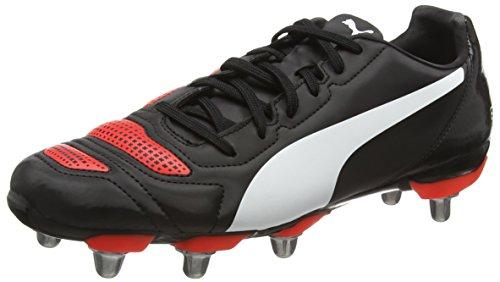 Puma evoPower 4.2 H8 F6- Zapatillas de Fútbol Entrenamiento para Hombre Negro (Red/Wht/Blk)
