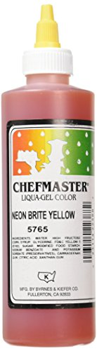 Chefmaster Liqua-Gel Food Color, 10.5-Ounce, Neon Brite Yellow by Chef-Master
