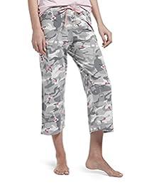 Hue Womens Printed Knit Capri Pajama Sleep Pant