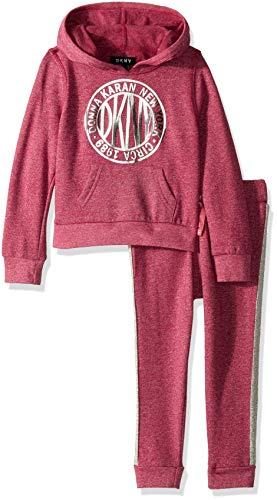 DKNY Girls 2 Piece Medallion Hoodie and Jogger Set