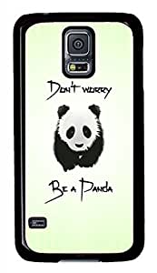 Be A Panda Black Hard Case Cover Skin For Samsung Galaxy S5 I9600