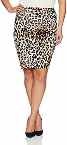 bc3853c66 Star Vixen Women's Plus-Size Knee Length Classic Stretch Pencil Skirt