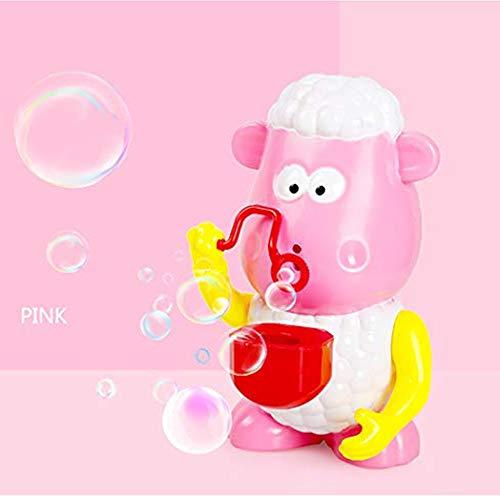 ✅Bubble Machine Sheep Automatic Music LED Bubble Maker Blower Flashing Light Up for Kids Bath Toy Parties Picnics Summer…