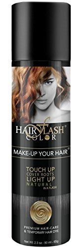Hair Flash Color, Temporary Hair Dye and Haircare Spray, Black Color, (90 ml Bottle); Instant Hair Color, Natural Formula, No Harsh Chemicals