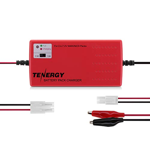 Tenergy Smart Universal Charger for NiMH Battery Pack (2.4V - 7.2V) for RC Cars, RC AIrplanes, Airsoft battery packs (2-6 cells)