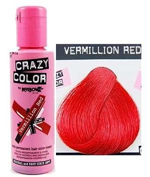 crazy colour teinture cheveux semi permanente vermillon 100 ml - Coloration Cheveux Semi Permanente
