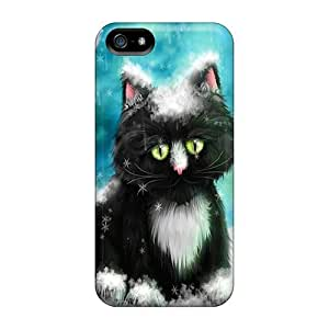 New Black Kitten In Snow Tpu Case Cover, Anti-scratch Whcases Phone Case For Iphone 5/5s