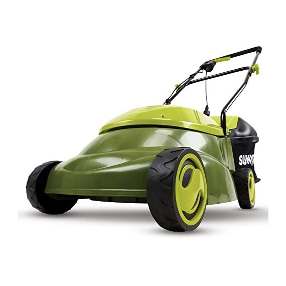 Sun joe mj401e 12 amp electric lawn mower 1 powerful: 13-amp motor cuts a 14-inch wide path adjustable deck: tailor cutting height with 3-position height control steel blades: durable 14-inch steel blade cuts with precision