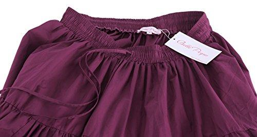 Hepburn Pourpre Vintage Belle Jupe Femme Maxi en Poque Coton Audrey Longue Retro 6qxfxSvpw