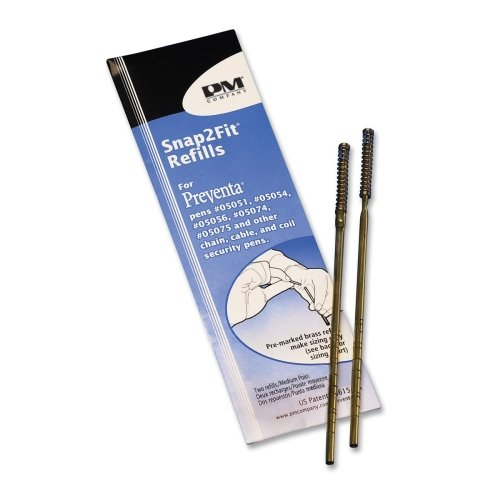 Wholesale CASE of 25 - PM Company Aluminum Counter Pen Refills-Aluminum Counter Pen Refill, Medium Point, 2/PK, Black Ink by PMC (Image #1)