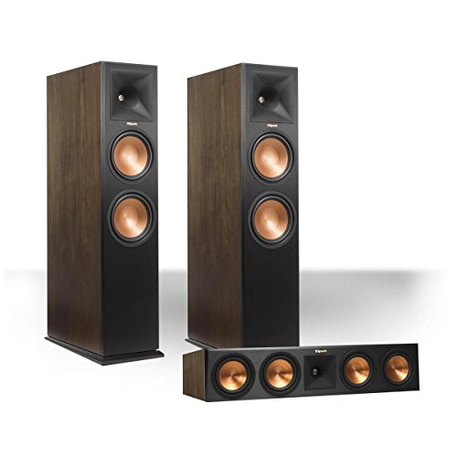 Klipsch RP-280FA Reference Premiere Dolby Atmos Enabled Floorstanding Speaker Package with RP-450CA Center Speaker (Walnut) by Klipsch