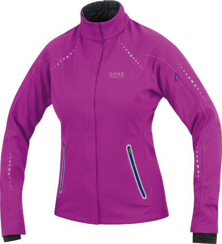 GORE RUNNING WEAR Women's Mythos Windstopper Soft Shell Jacket, blue berry/plum blue, XS