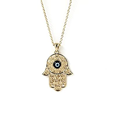 Buy imported fashion gold hamsa hand of fatima evil eye pendant imported fashion gold hamsa hand of fatima evil eye pendant necklace chain jewelry aloadofball Gallery