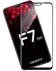 Tempered Glass Screen Protector For oppo F7-5D - Black