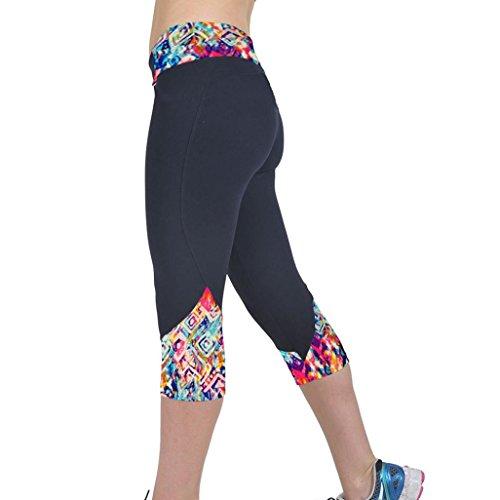 OVERMAL Women High Waist Fitness Yoga Sport Pants Cropped Leggings (XL/29)