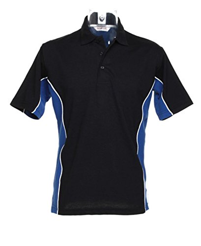 Kustom Kit – Gamegear Track Polo Shirt KK475 schwarz/royal XS
